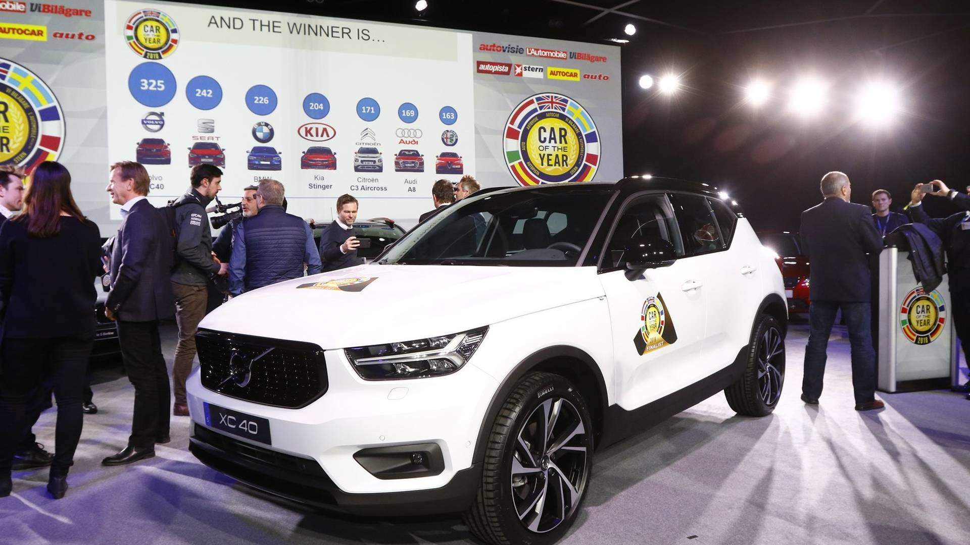 Volvo XC40 z tytulem Car of the Year