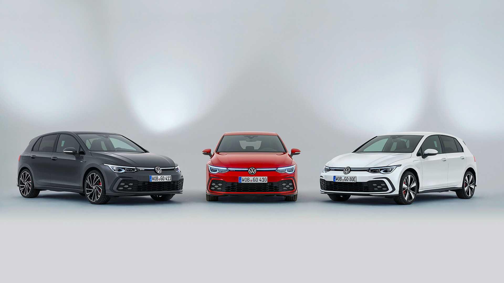 Volkswagen Golf w odmianacg GTI, GTD, GTE