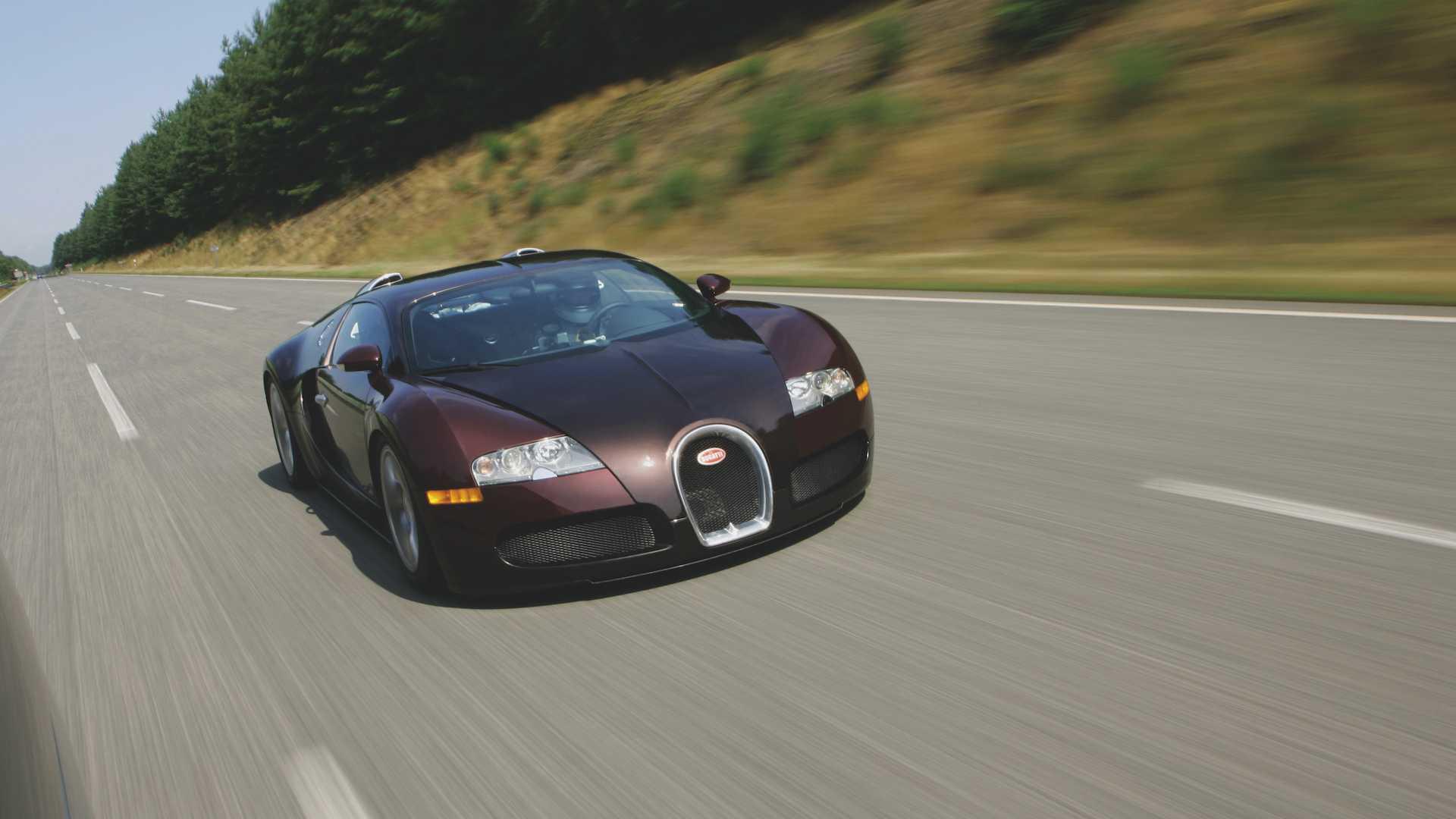 Bugatti Veyron na trasie