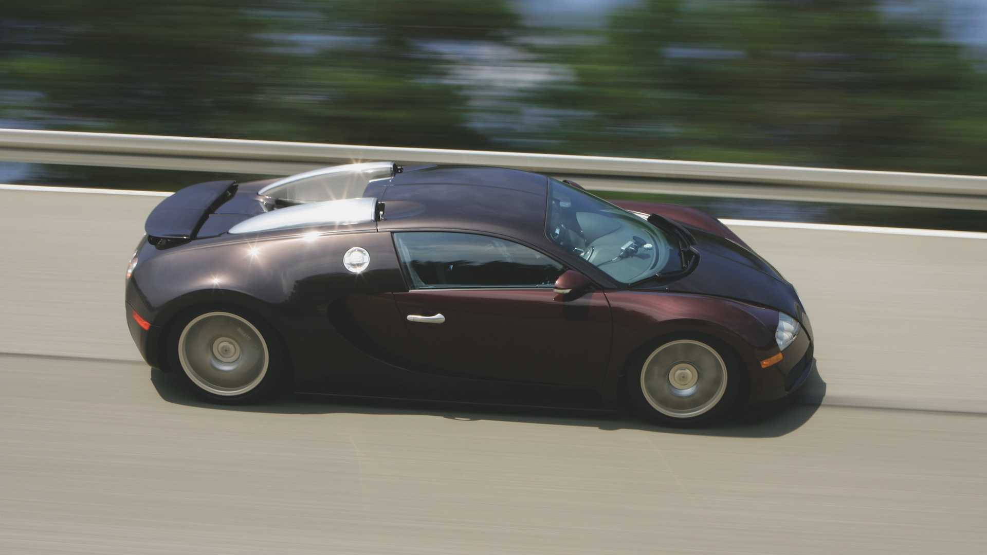szybka jazda Bugatti Veyron