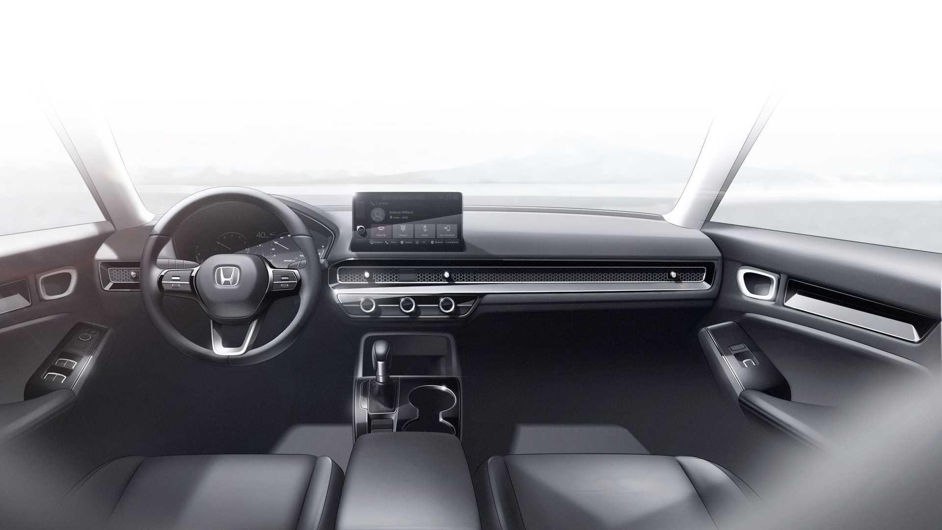 Honda Civic ma minimalistyczne wnetrze