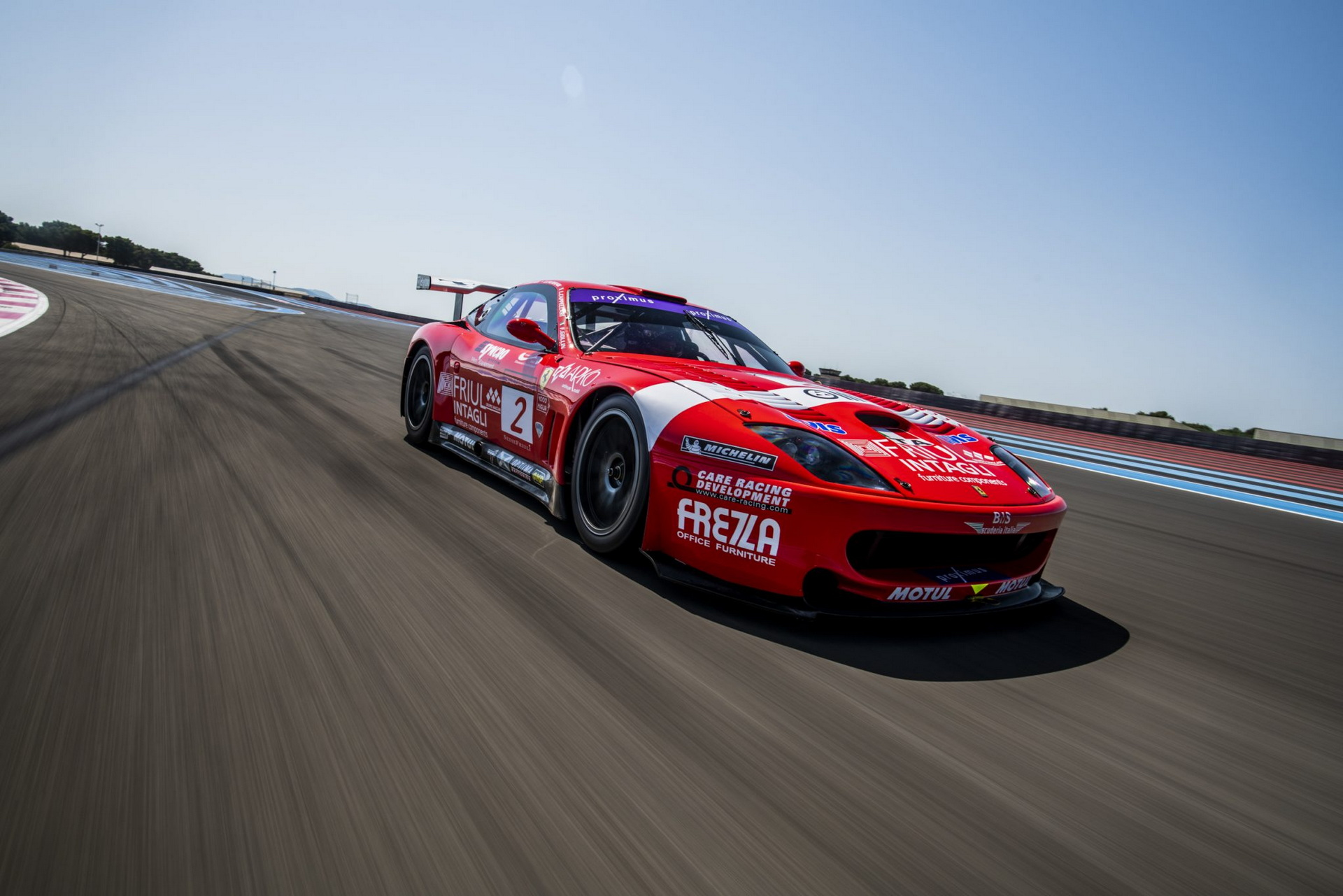 Ferrari n550 GT1 Prodrive na torze