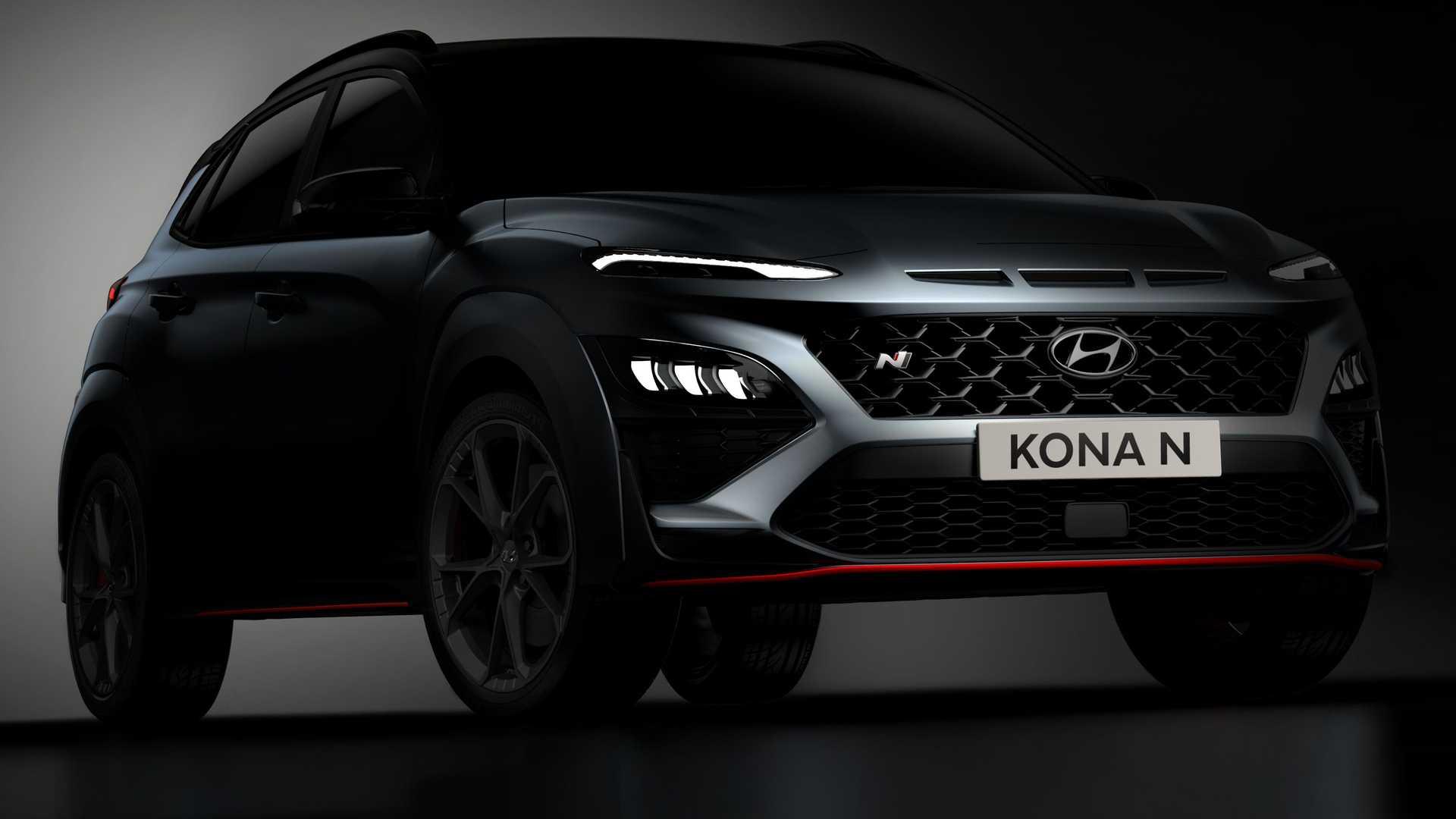 Hyundai Kona N na pierwszym zdjeciu