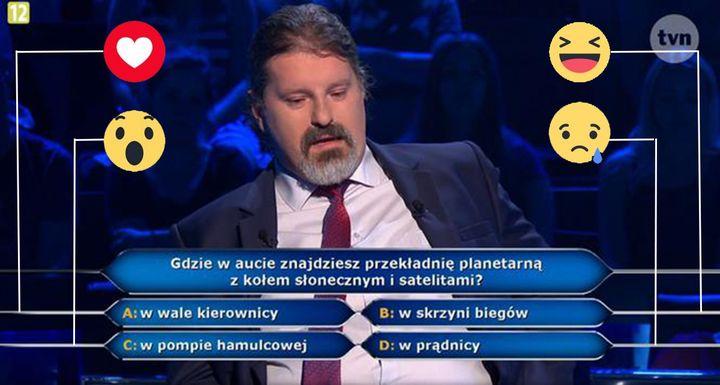 Uczestnik miał problem z pytaniem za 5000 zł ⤵⤵⤵ Poprosił o pół na pół. W ostateczności zaznaczył…
