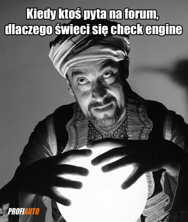 Co wówczas odpowiadasz❓  #ProfiAuto #wróżenie #awaria #checkengine